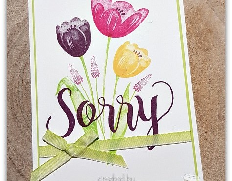 Say Sorry with Tulips by Leonie Schroder Independent Stampin' Up! Demonstrator Australia