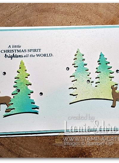 Shimmery Spritzed Trees by Leonie Schroder Independent Stampin' Up! Demonstrator Australia
