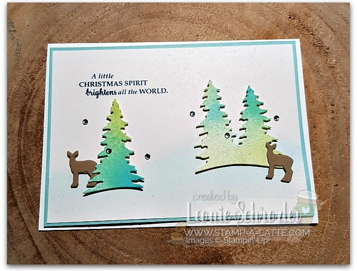 Shimmery Spritzed Trees by Leonie Schroder Independent Stampin' Up! Demonstrator Australia