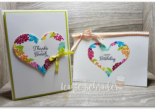 4 for 1 Masked Cards using Beautiful Bouquet by Leonie Schroder Independent Stampin' Up! Demonstrator Australia