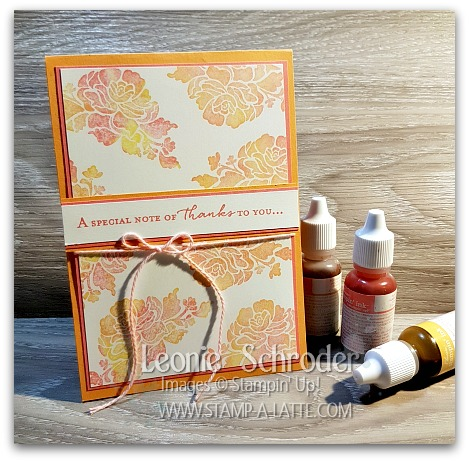 Baby WIpe Technique with Floral Phrases by Leonie Schroder Independent Stampin' Up! Demonstrator Australia