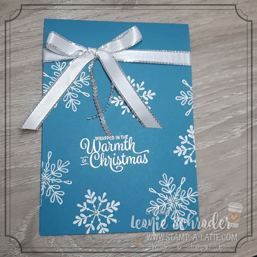 Heat Emboss Snowflakes by Leonie Schroder Independent Stampin' Up! Demonstrator Australia