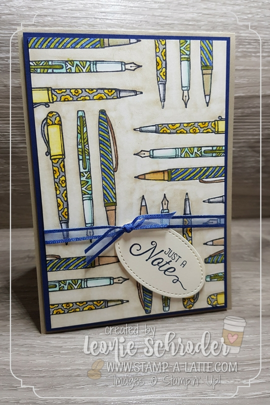 Stampin Blends Penned Note by Leonie Schroder Independent Stampin' Up! Demonstrator Australia