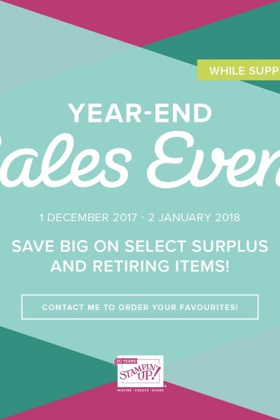 Shop the Year End Sale with Leonie Schroder Independent Stampin' Up! Demonstrator Australia
