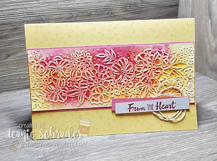 Brusho Ink Embossing Folder Card by Leonie Schroder Independent Stampin' Up! Demonstrator Australia