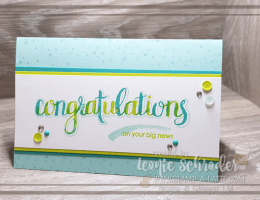 Amazing Congratulations by Leonie Schroder Independent Stampin' Up! Demonstrator Australia