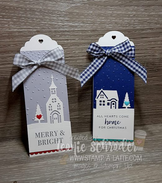 Tags for a Merry Christmas using Hearts come Home by Leonie Schroder Independent Stampin' Up! Demonstrator Australia