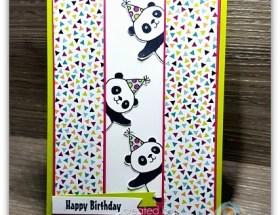 Peekaboo Party Pandas by Leonie Schroder Independent Stampin' Up! Demonstrator Australia