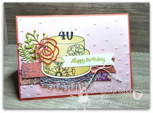 40th Birthday with the Sweet Soiree Embellishment Kit by Leonie Schroder Independent Stampin' Up! Demonstrator Australia