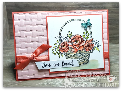 Basket of Blossoms by Leonie Schroder Independent Stampin' Up! Demonstrator Australia