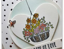 Layered Hanging Garden by Leonie Schroder Independent Stampin' Up! Demonstrator Australia