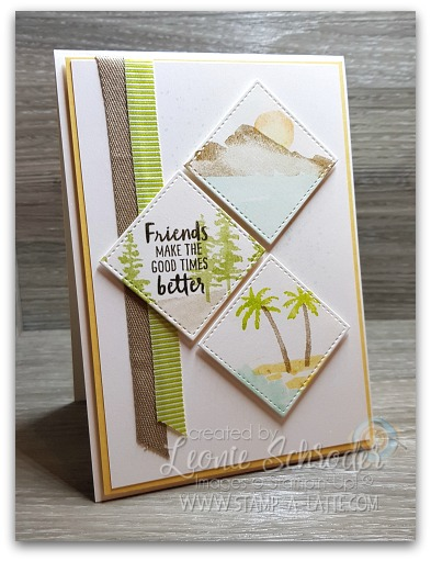 Waterfront Tile Card by Leonie Schroder Independent Stampin' Up! Demonstrator Australia
