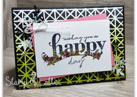 Happy Wishes created by Leonie Schroder Independent Stampin' Up! Demonstrator Australia