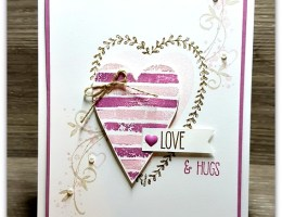 Arty Love n Hugs by Leonie Schroder Independent Stampin' Up! Demonstrator Australia
