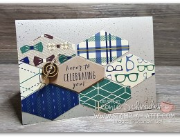 Tailored Birthday using True Gentleman DSP by Leonie Schroder Independent Stampin' Up! Demonstrator Ausralia