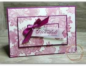 Triple Layered Heartfelt Blooms by Leonie Schroder Independent Stampin' Up! Demonstrator Australia