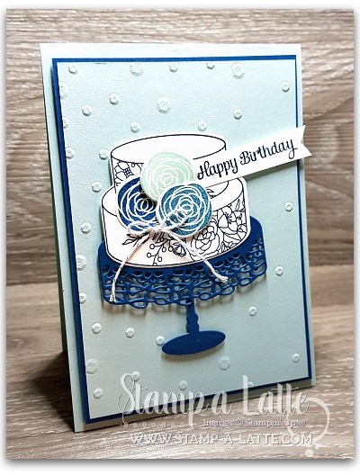 Cake Blues using Cake Soiree by Leonie Schroder Independent Stampin' Up! Demonstrator Australia