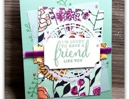 LuckyFriend using Love What You Do by Leonie Schroder Independent Stampin' Up! Demonstrator Sydney Australia