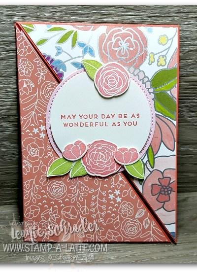 Sweet Sioree Corner Flip Card by Leonie Schroder Independent Stampin' Up! Demonstrator Australia