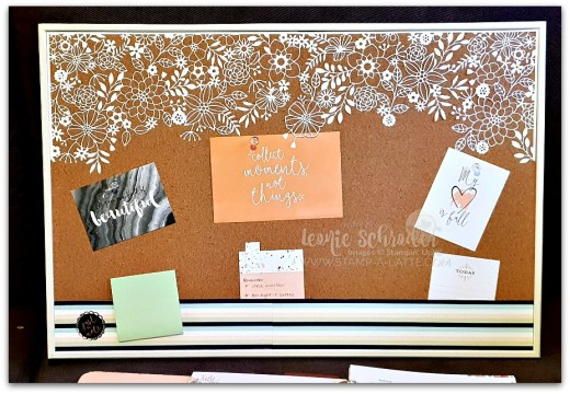 Delightfully Detailed Noticeboard by Leonie Schroder Independent Stampin' Up! Demonstrator Australia