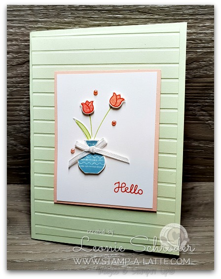 Hello Tulips with Varied Vases by Leonie Schroder Indpendent Stampin' Up! Demonstrator Australia