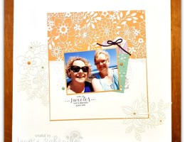 Delightfully Detailed Layout by Leonie Schroder Independent Stampin' Up! Demonstrator Australia