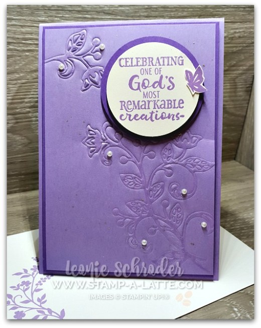 Embossed Flourishes by Leonie Schroder Independent Stampin' Up! Demonstrator Australia