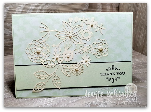 Delicately Detailed Sea Foam card by Leonie Schroder Independent Stampin' Up! Demonstrator Australia