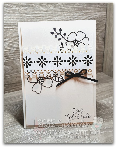Delightfully Detailed in Black on Shimmer by Leonie Schroder Independent Stampin' Up! Demonstrator Australia