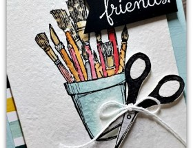 Cut Out to be Friends using Crafting Forever by Leonie Schroder Independent Stampin' Up! Demonstrator Australia