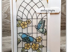 Stained Glass Window by Leonie Schroder Independent Stampin' Up! Demonstrator Australia
