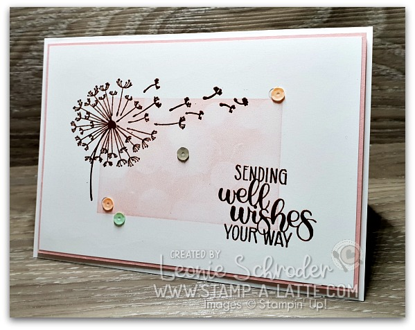 Dandelion Wishes Card by Leonie Schroder Independent Stampin' Up! Demonstrator Australia