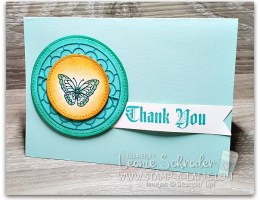 Painted Glass Butterfly by Leonie Schroder Independent Stampin' Up! Demonstrator Australia