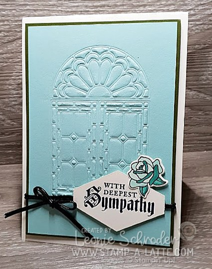 Embossed Stained Glass by Leonie Schroder Independent Stampin' Up! Demonstrator Australia
