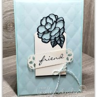 Quilted Botanical Bliss card by Leonie Schroder Independent Stampin' Up! Demonstrator Australia