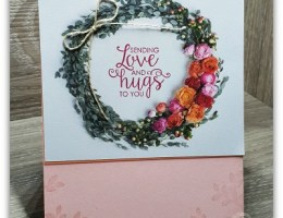 Love n hugs wreath using Petal Promenade Designer Series Paper from Stampin' Up!