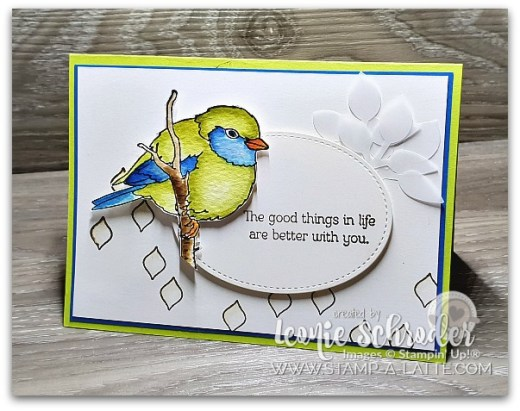 Painted Bird using Better with You by Leonie Schroder Independent Stampin' Up! Demonstrator Australia