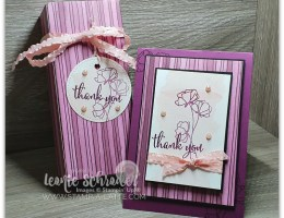 Thank You Card and Gift Box made using the Gift Bag Punch Board made by Leonie Schroder Independent Stampin' Up! Demonstrator Australia