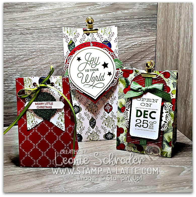 GiftBags with SIncerely Santa by Leonie Schroder Independent Stampin' Up! Demonstrator Australia