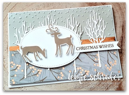 Dashing Deer in the WInter Woods by Leonie Schroder Indpendent Stampin' Up! Demonstrator Australia