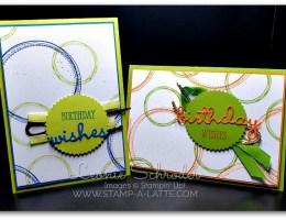 Swirly Frames Birthday by Leonie Schroder Independent Stampin' Up! Demonstrator Australia