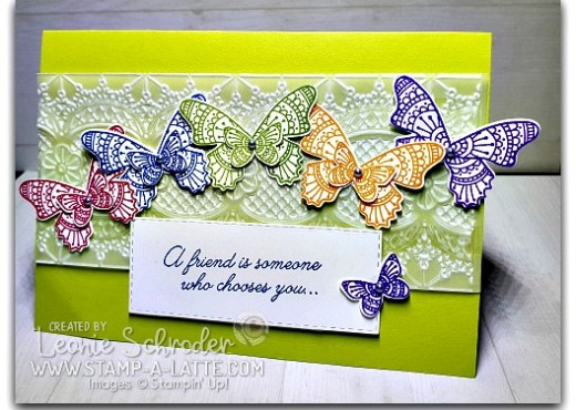 Butterfly Gala with Lace Embossed Vellum by Leonie Schroder Independent Stampin' Up! Demonstrator Australia