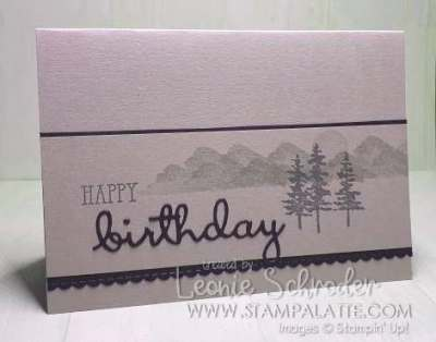 Well Said Birthday using Waterfront Stamp Set by Leonie Schroder Independent Stampin' Up! Demonstrator Australia #waterfront #wellsaid #stampalatte