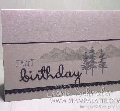 Well Said Birthday using Waterfront Stamp Set by Leonie Schroder Independent Stampin' Up! Demonstrator Australia #waterfront #wellsaid #stampalatte
