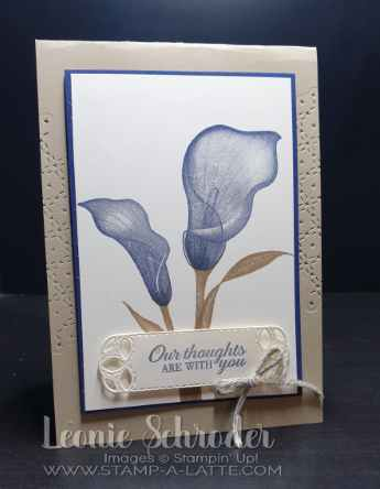 Lasting Lily in Navy by Leonie Schroder Independent Stampin' Up! Demonstrator Australia