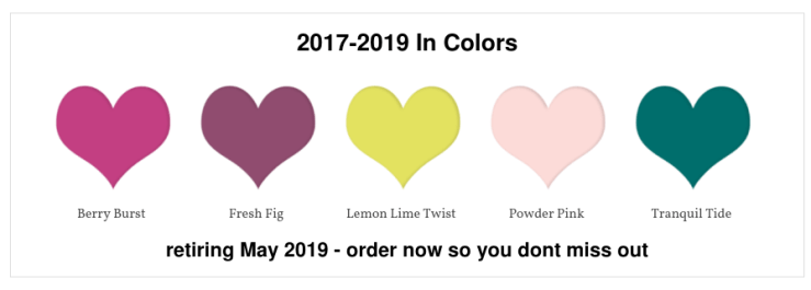 2017-2019 In Colors - buy now before they are gone - Leonie Schroder Independent Stampin' Up! Demonstrator Australia