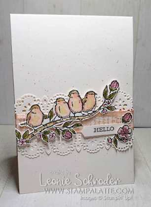 Hello with Free as a Bird for a little Sneak Peek by Leonie Scrhoder Independent Stampin' Up! Demonstrator Australia