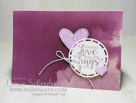Love & Hugs using Ribbon of Courage by Leonie Schroder Independent Stampin' Up! Demonstrator Australia
