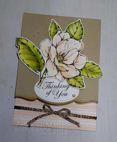 Cut out edged card using the Magnolia Lane Suite by Leonie Schroder Independent Stampin' Up! Demonstrator Australia