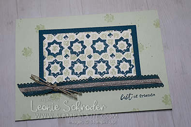 Quilt Friends using Verdant Garden by Leonie Schroder Independent Stampin' Up! Demonstrator Australia